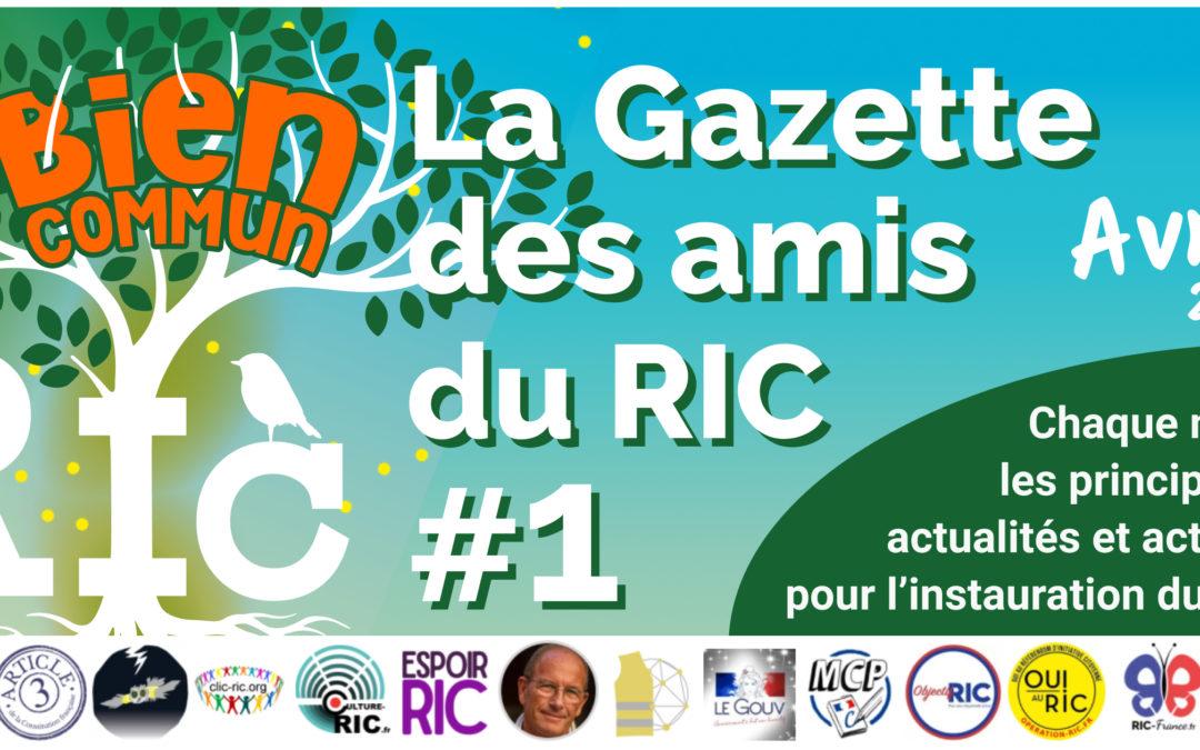 La Gazette des amis du RIC – Numéro 1