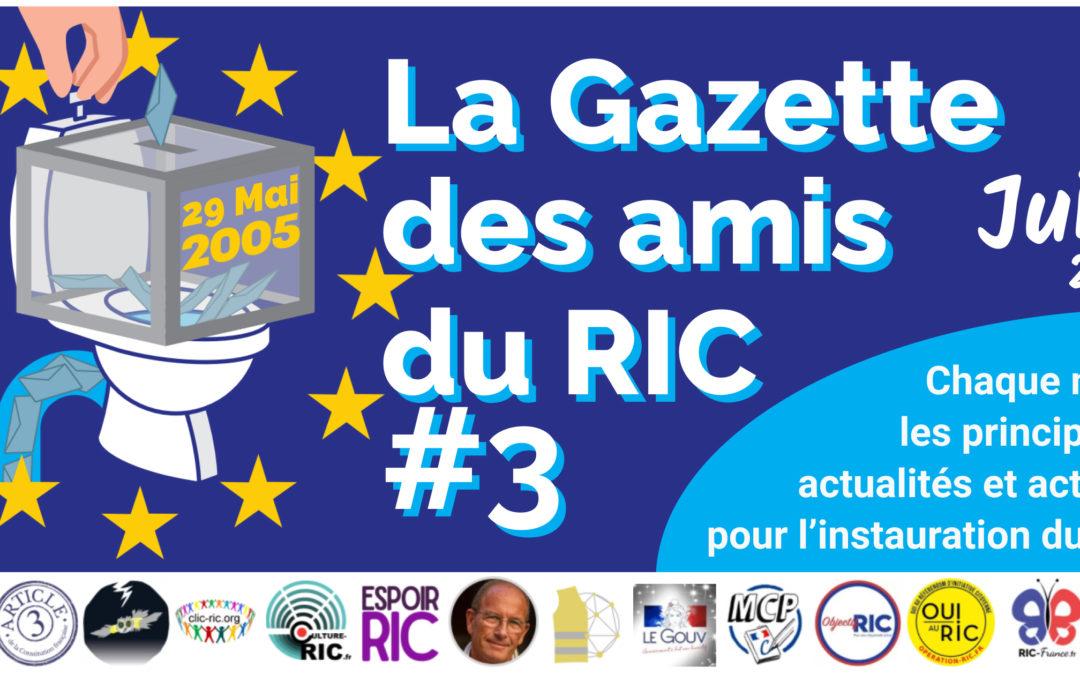 La Gazette des amis du RIC – Numéro 3