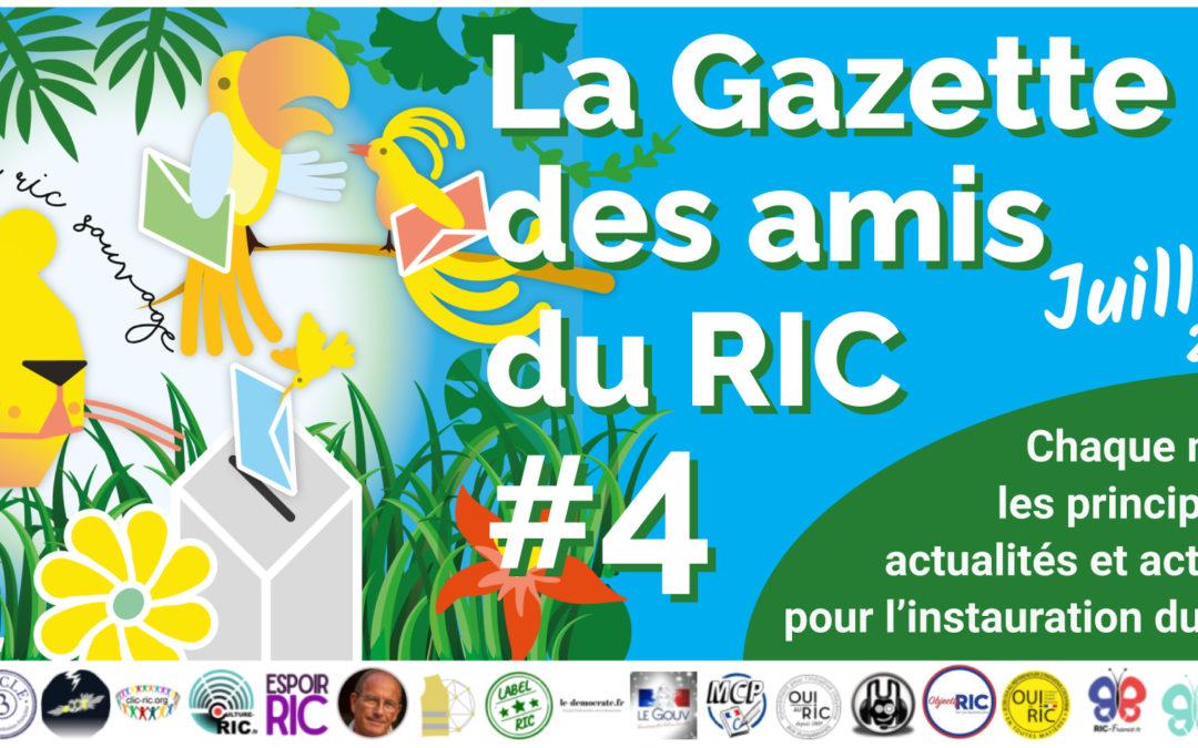La Gazette des amis du RIC – Numéro 4